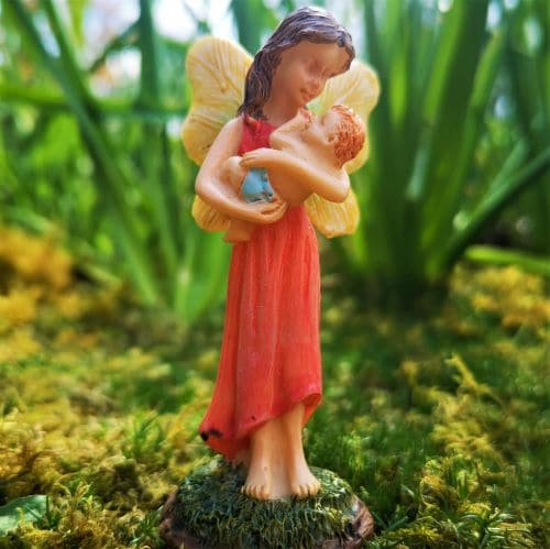 mother and baby fairy figure