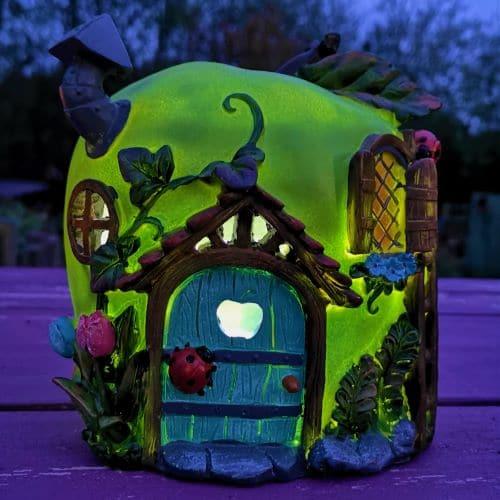solar apple fairy houses