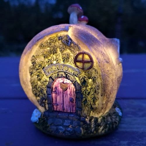 solar snail shell fairy houses