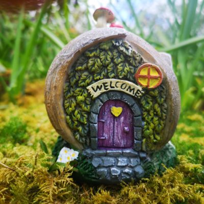 solar snail shell fairy home