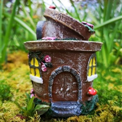 solar fairy garden flower pot
