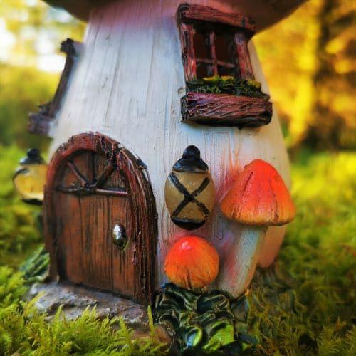 solar fairy house door