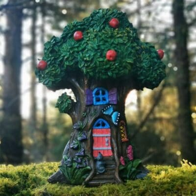 apple tree fairy house