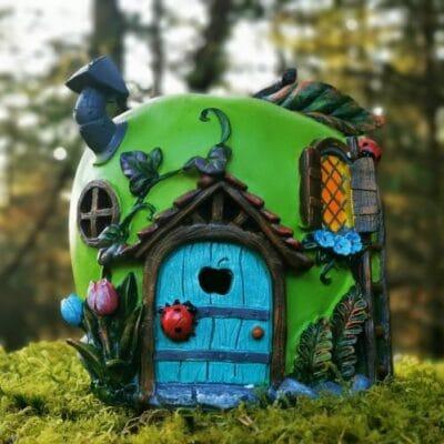 solar apple fairy house