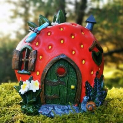 strawberry fairy house