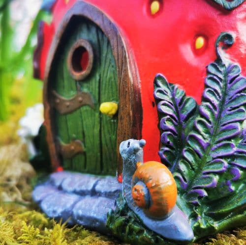 dorr of strawberry fairy house