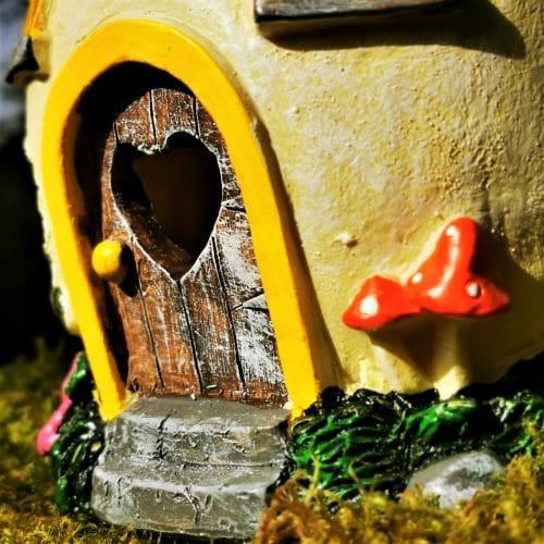 cute door of fairy house