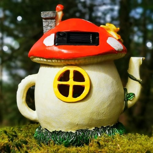 solar panelled fairy teapot