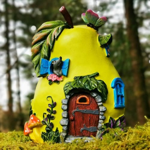 solar pear fairy house