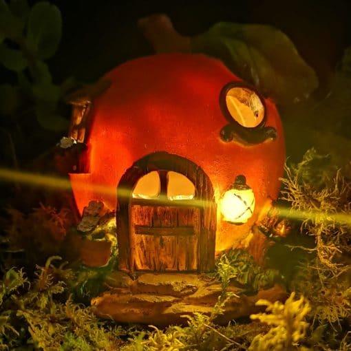 apple fairy house night light