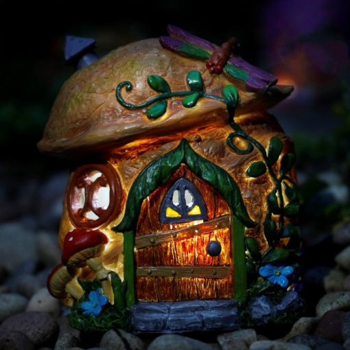 solar walnut fairy home