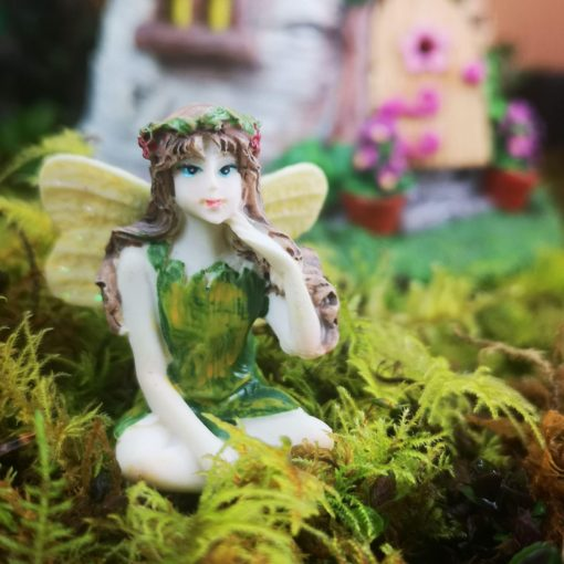 green fairy figurine