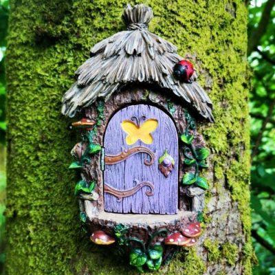 purple fairy door tree