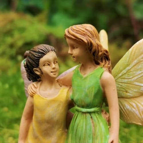 mother and daughter fairy ornaments