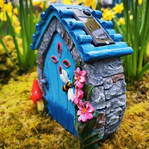 flower solar fairy door