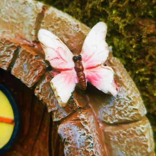 fairy door butterfly detail