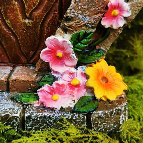 flowers on the doorstep