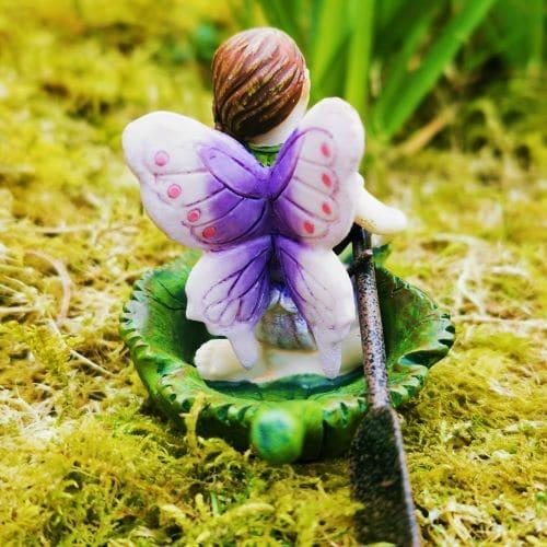 fairy figure in boat