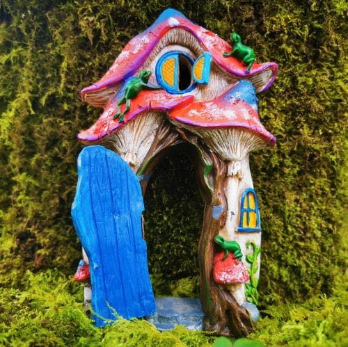 open door on fairy house
