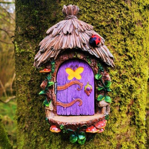 purple opening door fairy landing pad