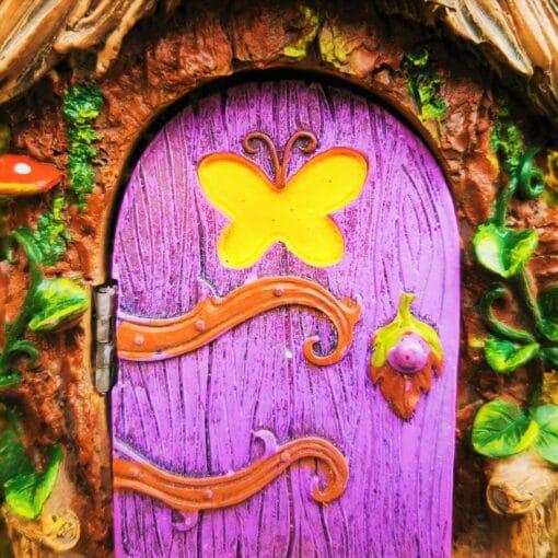 purple fairy doors