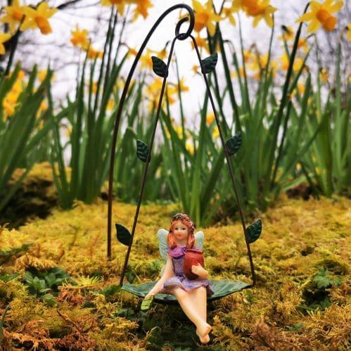 fairy on swing ornament