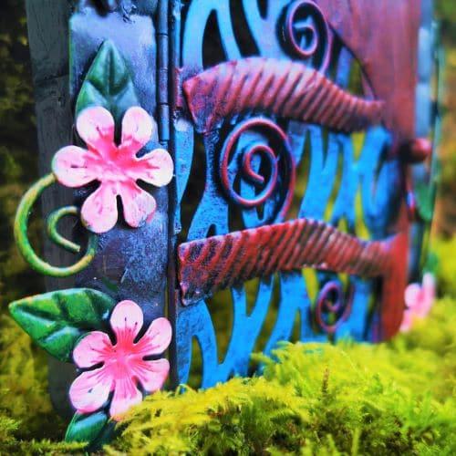 metal opening fairy door
