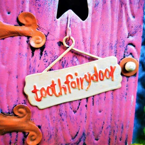 tooth fairy door sign