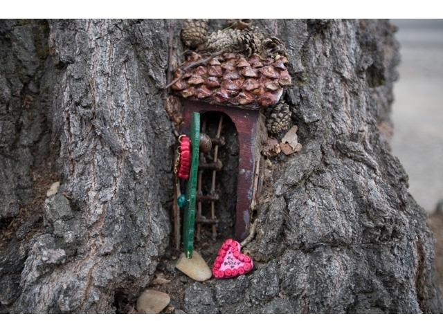 handmade wooden fairy gate
