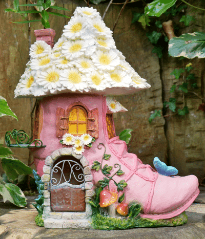 pink boot fairy home