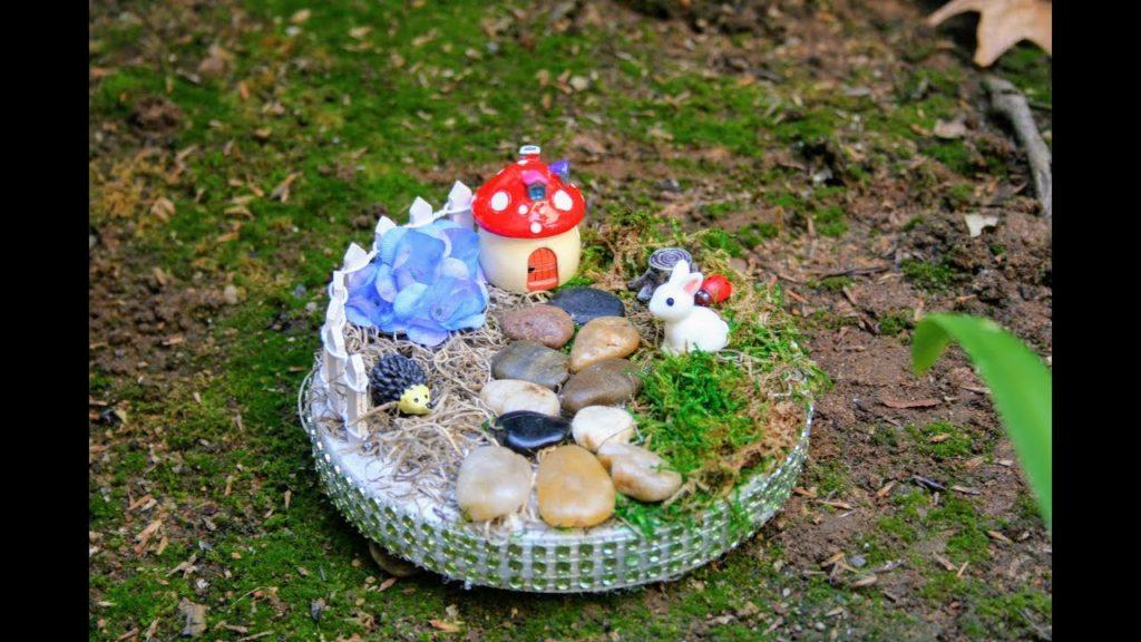 handmade fairy gaeden made by kids