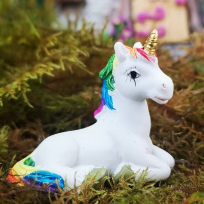 miniature unicorn ornament