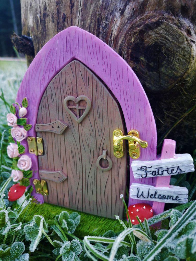 opening fairy door for a tree
