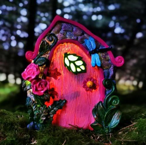 pink light up fairy door
