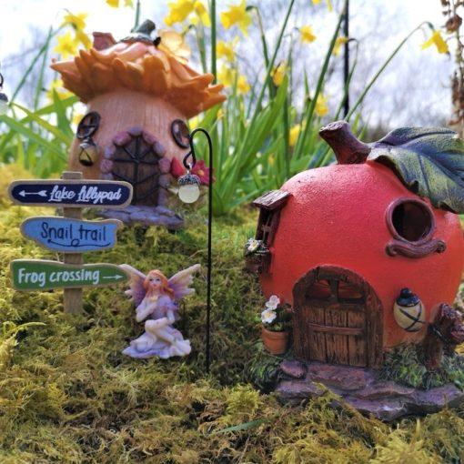 solar fairy garden village kit