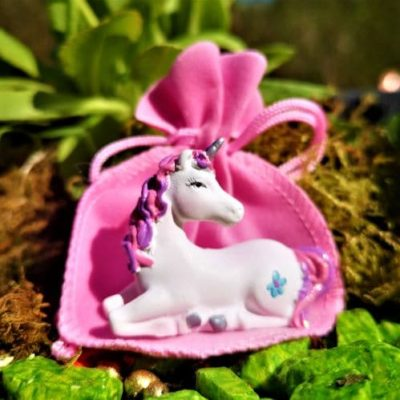 pocket unicorn garden ornament