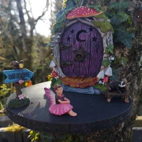 fairy door platform for a tree