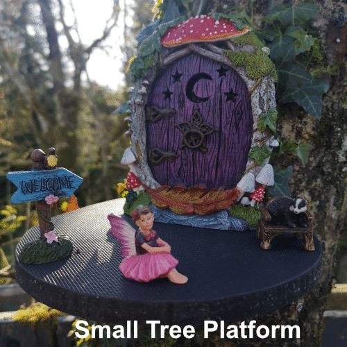fairy door tree platform