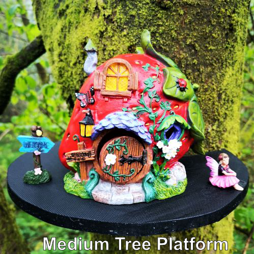 fairy house on a tree platform