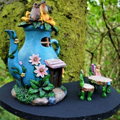 solar teapot fairy houses kit