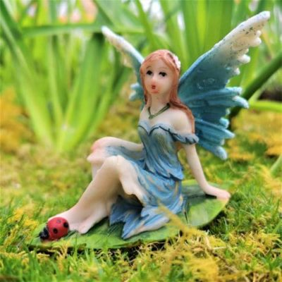 blue fairy garden ornament