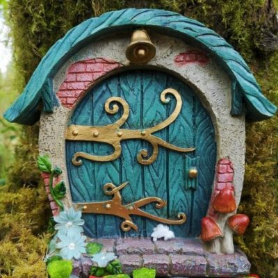 round hobbit fairy door ireland
