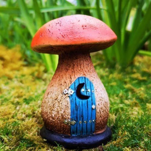 miniature mushroom fairy garden house