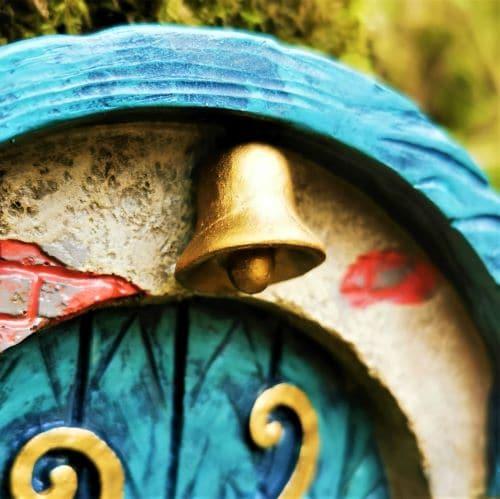 bell on the top of the door