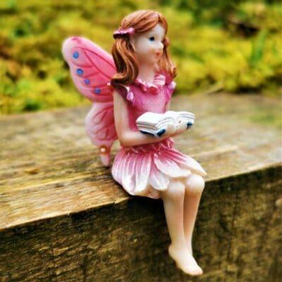 sitting fairy figurine