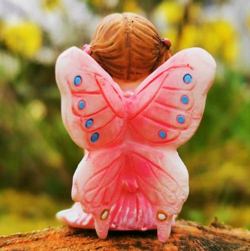 fairy figure with pink wings