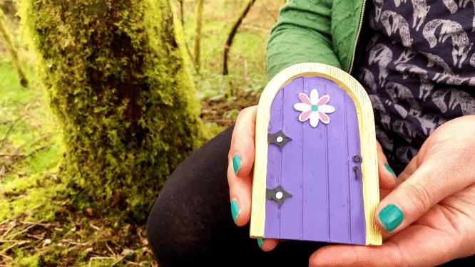 purple fairy door for garden