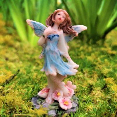blue fairy garden figure