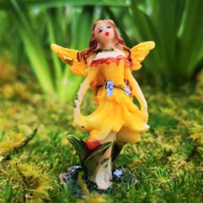 golden fairy garden figure