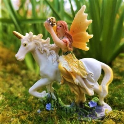 irish unicorn and fairy figures